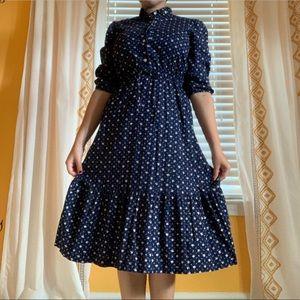 A vintage navy midi dress!
